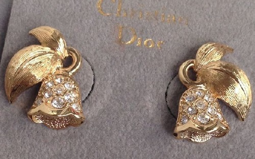 Christmas earrings. Christian Dior jewellery