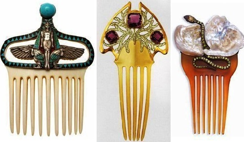 Art Nouveau combs, the beginning of the 20th century