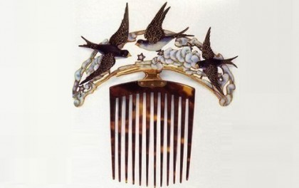 Bird Art Nouveau combs, the beginning of the 20th century