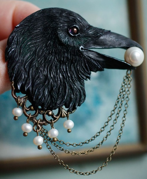 Crow. Handmade Secret Jar