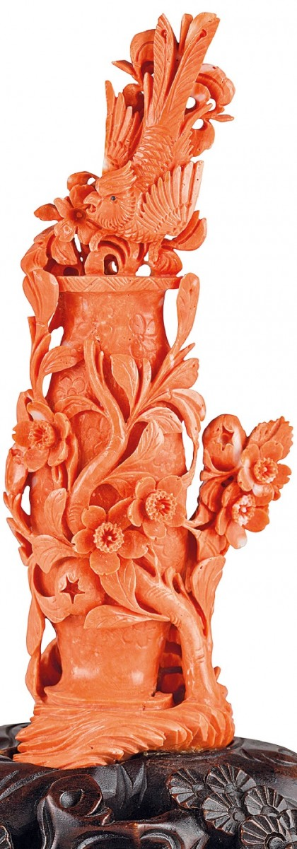 Chinese coral sculpture, 19th century, Genoa auction 1 March 2016