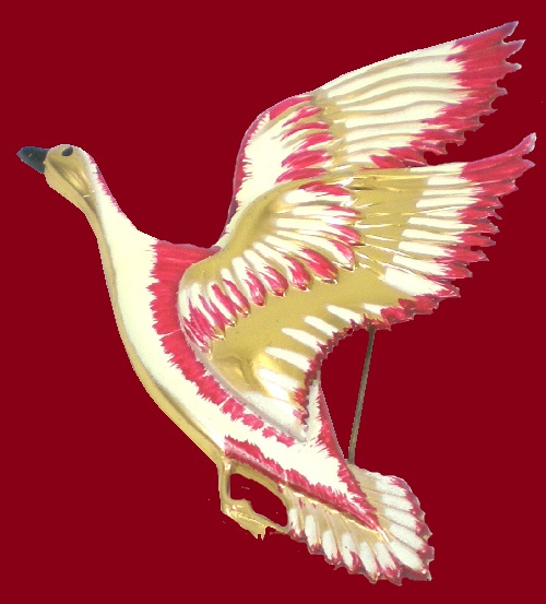 Flying goose, Coro vintage brooch