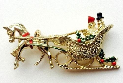 Dashing through the snow in a one horse open sleigh