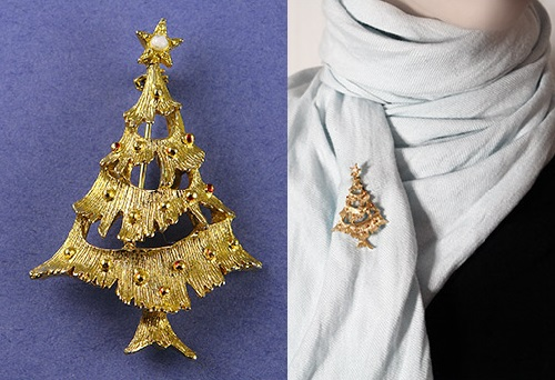 Nice Christmas Tree brooch