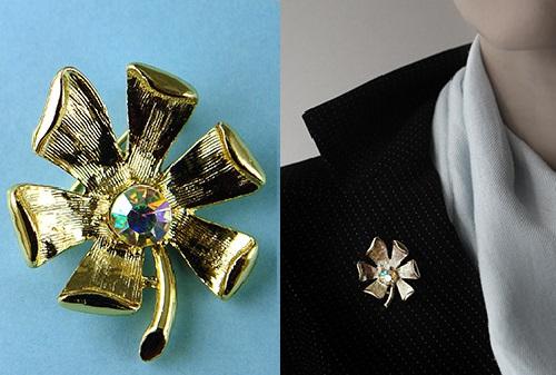 Flower brooch, vintage