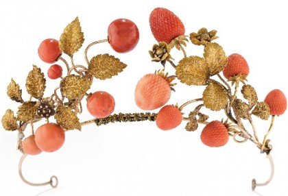Tiara of Gold and coral, 19th century