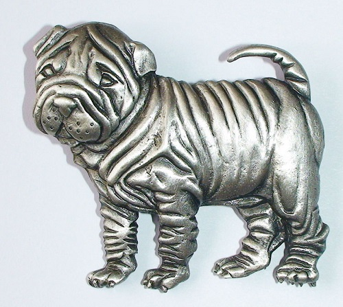 JJ (Jonette Jewelry Со) brooch Chinese Shar-Pei