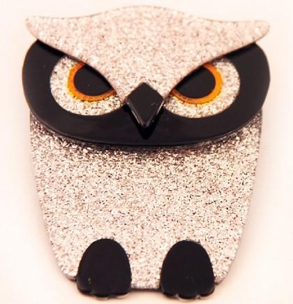 Lea Stein brooch owl