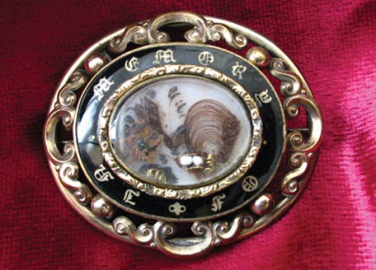 Antique mourning Brooch