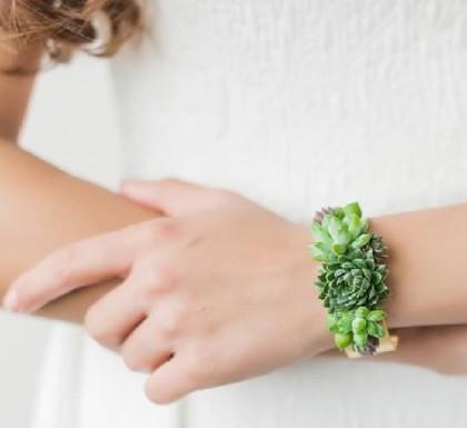 Delicate succulent bracelet