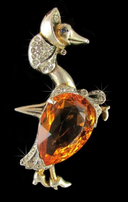 Reja vintage brooch Goose