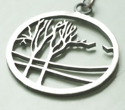 Trees. Silver pendant