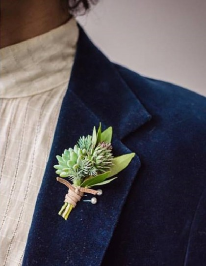 Pin, or Succulent boutonniere
