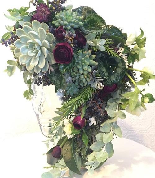 Bouquet. Succulent inspired art