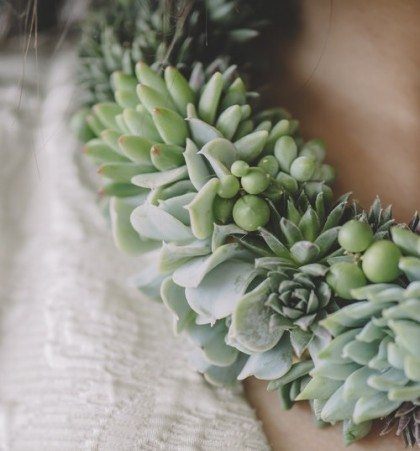 Detail of Succulent necklace