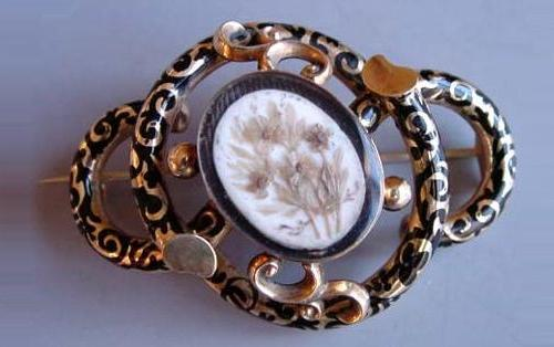 Rare Victorian Mourning jewellery, brooch