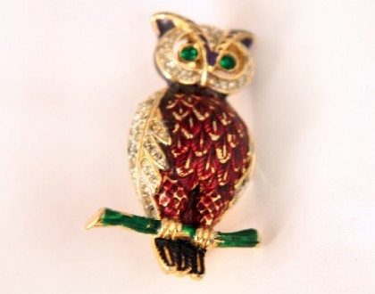 Vintage brooch Owl by Boucher