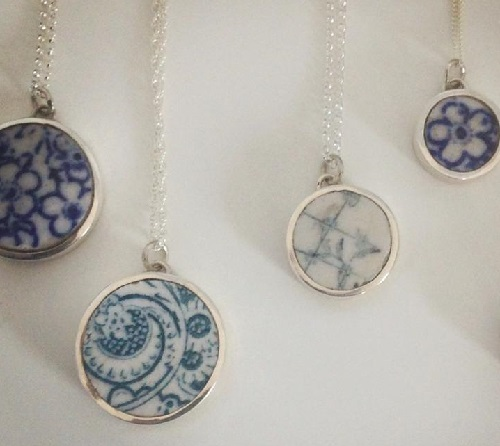 Charming porcelain pendants