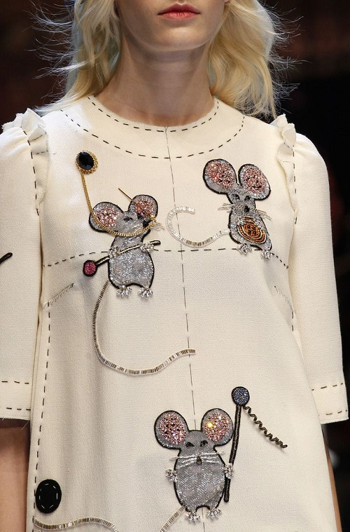 Cute mice embroidery