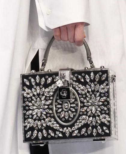 Richly decirated handbag. F/W 16-17