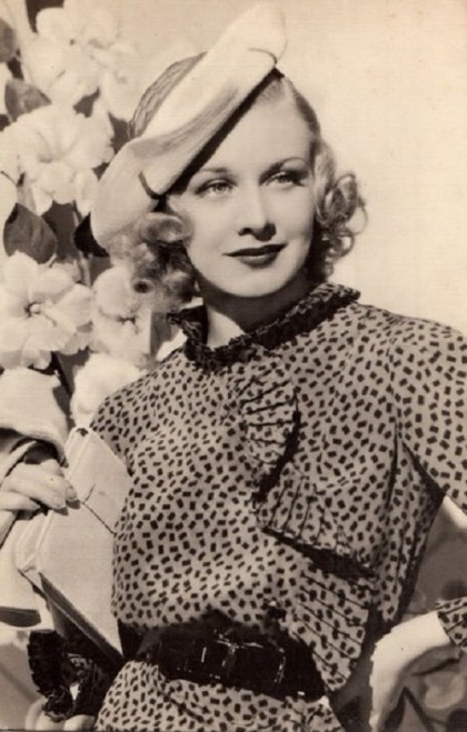 Icon of style and jewellery expert Ginger Rogers
