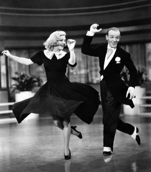 Ginger Rogers dancing with partner Fred Astaire