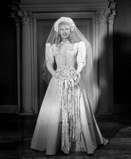 In a bride dress, Gorgeous Ginger Rogers