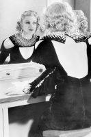 Rogers in her dressing room, 1933