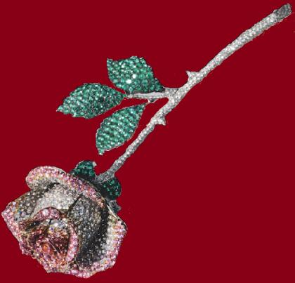 Black rose brooch. Michele della Valle jewellery