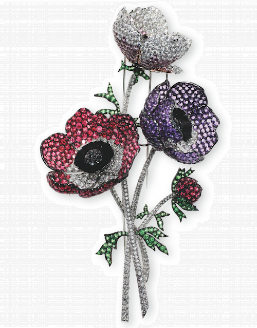 Poppies brooch. Jewellery by Michele della Valle