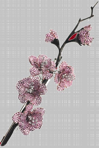 Sakura brooch. Jewellery by Michele della Valle