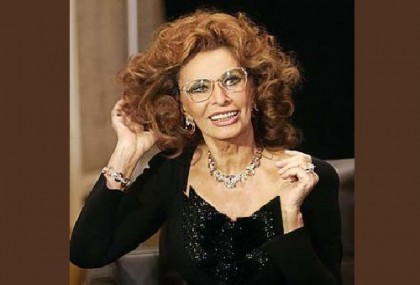 The face of Italian jewelry house Damiani, Sophia Loren