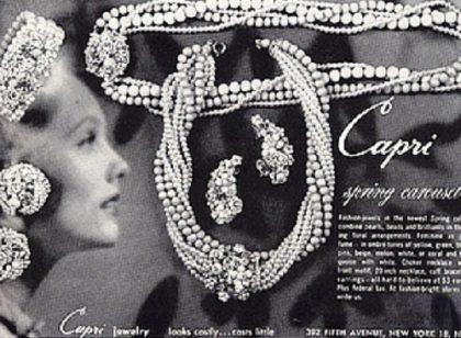 Promotional Capri vintage costume jewellery