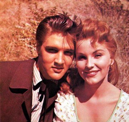 Elvis Presley and Debra Paget in 1956 film Love Me Tender