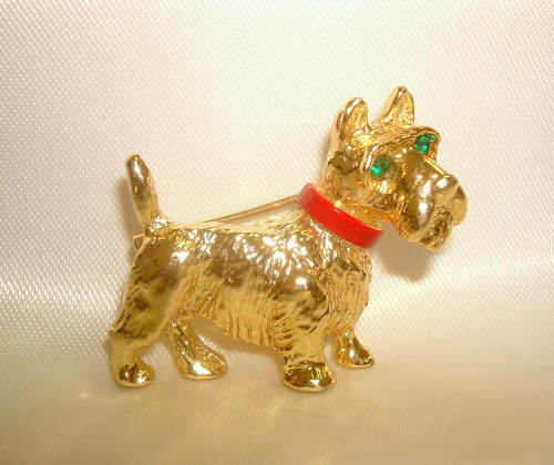 Gerrys Creations. Vintage brooch Dog - Terrier. USA. 1980 - ies