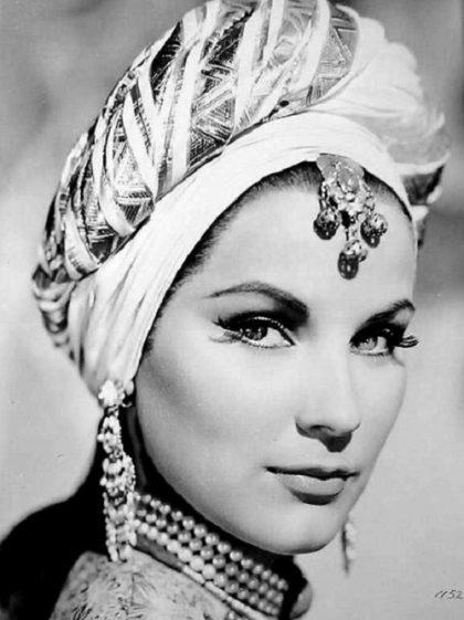 She used to wear lots of Jewellery, Debra Paget