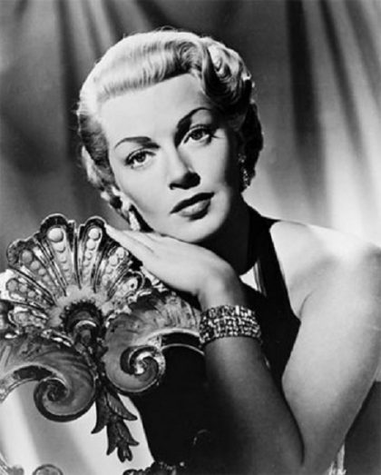 Glamorous Hollywood diva Lana Turner