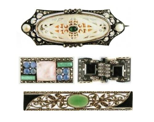 1920-1930 Fahrner jewellery