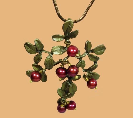 Cranberry necklace