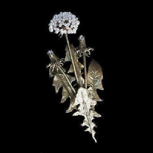 Dandelion brooch