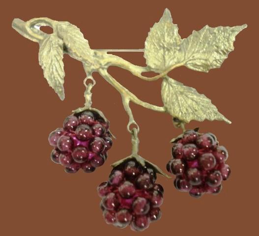 Raspberry brooch
