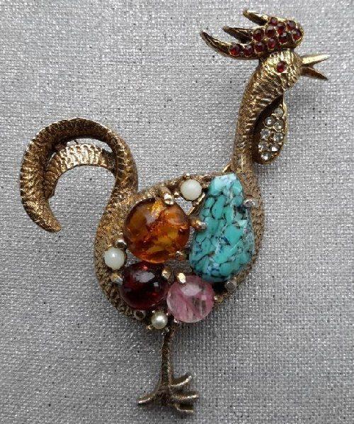 1960s vintage brooch, USA