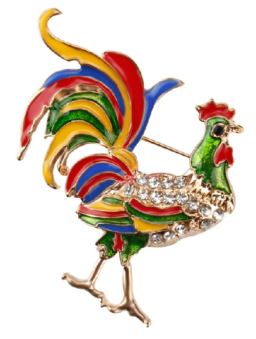 Fire Rooster Year jewellery decorations