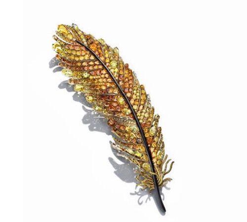 Phoenix Feather Brooch