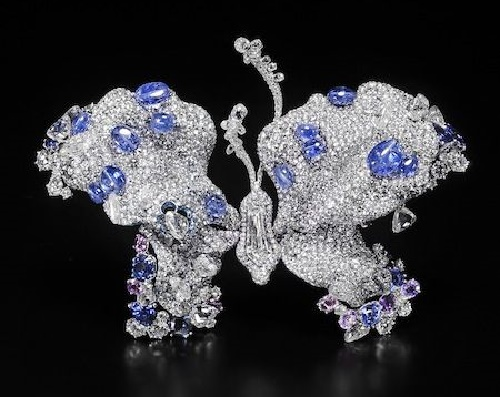 Sapphire and diamond Transcendence Butterfly