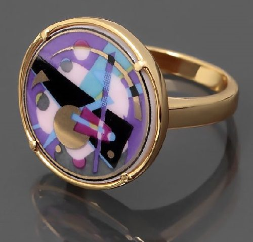 Abstraccion ring inspired by Kandinsky