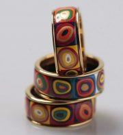 Abstract art and Kandinsky inspired jewellery