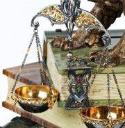 Closeup - Wise owl sculptural composition