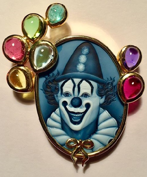 Clown. Beryll, Turmaline, Tanzanit, emerald