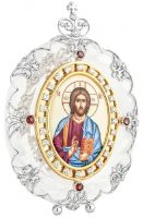 Crystal icon of Christ Pantocrator